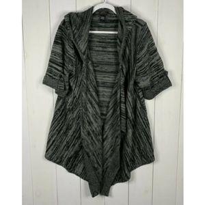 Torrid Gray 3X Short Sleeve Open Front Cardigan